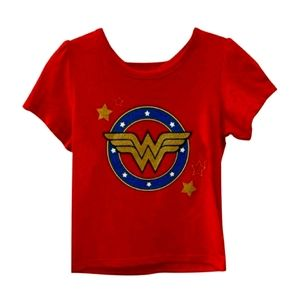 New Girl Wonder Woman T-shirt with Removable Cape